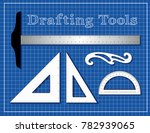 drafting tools for architecture ... | Shutterstock .eps vector #782939065