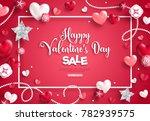 happy saint valentine's day...   Shutterstock .eps vector #782939575