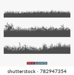 set of abstract hand drawn... | Shutterstock .eps vector #782947354