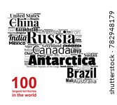100 biggest countries word... | Shutterstock .eps vector #782948179
