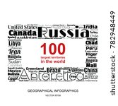 100 biggest countries word... | Shutterstock .eps vector #782948449