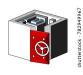 logo square heavy door of the... | Shutterstock .eps vector #782949967