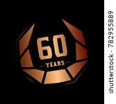 60 years design template.... | Shutterstock .eps vector #782955889