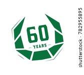 60 years design template.... | Shutterstock .eps vector #782955895