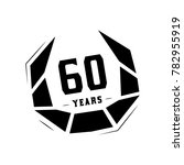 60 years design template.... | Shutterstock .eps vector #782955919