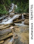 beautiful natural waterfall... | Shutterstock . vector #782957701