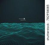 abstract digital landscape.... | Shutterstock .eps vector #782958085
