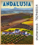 summer day in andalusia  spain. ... | Shutterstock .eps vector #782960014