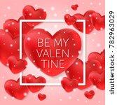 valentines day vector... | Shutterstock .eps vector #782963029