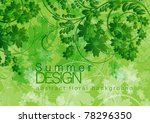 abstract floral vector... | Shutterstock .eps vector #78296350