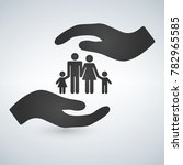 hands holding a symbol of... | Shutterstock .eps vector #782965585