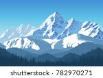 alps mountain landscape at... | Shutterstock .eps vector #782970271