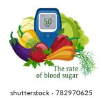 blood glucose meter with an... | Shutterstock .eps vector #782970625