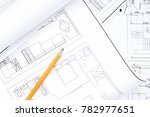 close up with a pencil above... | Shutterstock . vector #782977651