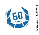 60 years design template.... | Shutterstock .eps vector #782979241