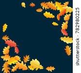 corners of bright oak leaf... | Shutterstock .eps vector #782980225