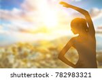 sport woman in light sun | Shutterstock . vector #782983321