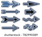 amazing arrow set  | Shutterstock . vector #782990389