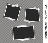 photo frames with sticky on... | Shutterstock .eps vector #782994865