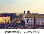 city traffic of cars entering... | Shutterstock . vector #782994979