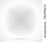 white 3d vector halftone sphere.... | Shutterstock .eps vector #782996671