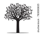 black shape of tree. vector... | Shutterstock .eps vector #783000835