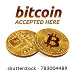 bitcoin accepted sign emblem.... | Shutterstock .eps vector #783004489