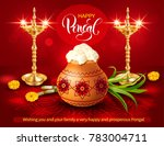 poster design with gold diyas ... | Shutterstock .eps vector #783004711