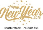 happy new year greeting card.... | Shutterstock .eps vector #783005551