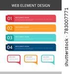 web elements design set | Shutterstock .eps vector #783007771