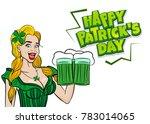 blonde laughter cute girl.... | Shutterstock .eps vector #783014065