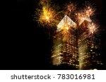 orange pink light of new year... | Shutterstock . vector #783016981