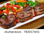 meat skewer  picanha with... | Shutterstock . vector #783017641