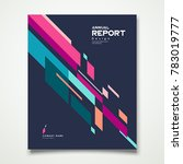 cover annual report geometric... | Shutterstock .eps vector #783019777
