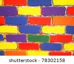 brick wall painted children | Shutterstock . vector #78302158