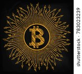 crypto currency  bitcoin. in... | Shutterstock .eps vector #783023239