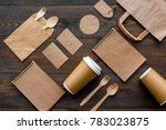 set of recycle brown paper bag  ... | Shutterstock . vector #783023875