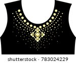 rhinestone applique for t shirt ... | Shutterstock .eps vector #783024229