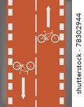 bike lane | Shutterstock .eps vector #78302944