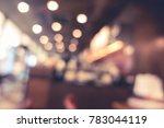 blur or defocus image of coffee ...   Shutterstock . vector #783044119