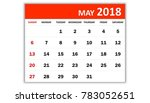 May 2018. Monthly Calendar 201...