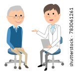 the male of the white coat... | Shutterstock .eps vector #783061261