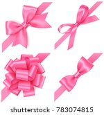 decorative set of pink bow with ... | Shutterstock .eps vector #783074815