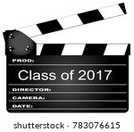 a typical movie clapperboard...   Shutterstock .eps vector #783076615