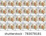 raster illustration. classic... | Shutterstock . vector #783078181