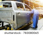 car production line  skilled... | Shutterstock . vector #783080065