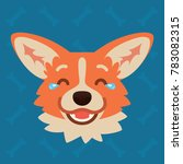 corgi dog emotional head.... | Shutterstock .eps vector #783082315