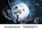 spaceman carry his mission.... | Shutterstock . vector #783083071