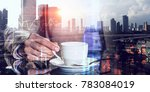 short coffee break and back to... | Shutterstock . vector #783084019