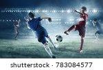 children play soccer. mixed...   Shutterstock . vector #783084577